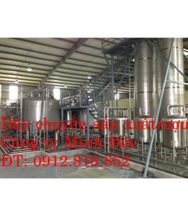 Dây chuyền sản xuất rượu đóng chai